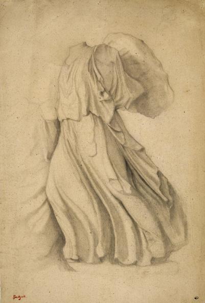 Edgar Degas-Etude d'apès L'Artémis du Parthénon (Londres, British Museum)