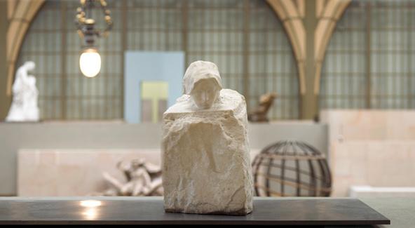 Auguste Rodin-Détail de La Pensée