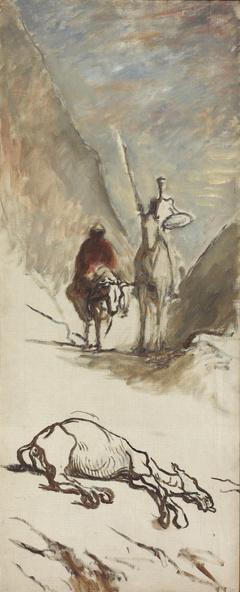 Honoré Daumier-Don Quichotte et la mule morte