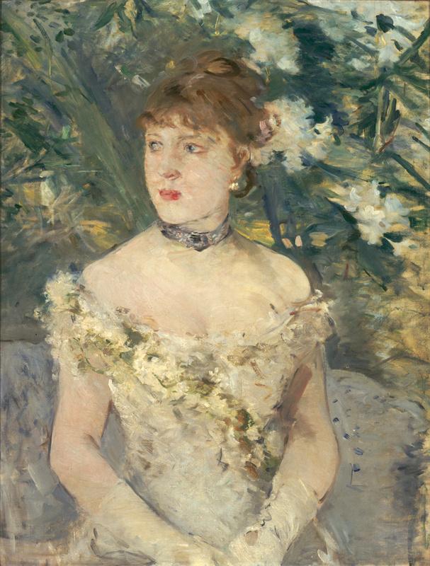 Jeune femme en toilette de bal (en 1879), Morisot, Berthe
