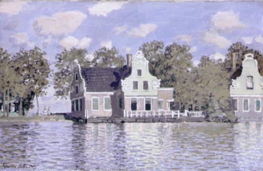 Claude Monet-Maisons au bord de la Zaan, à Zaandam