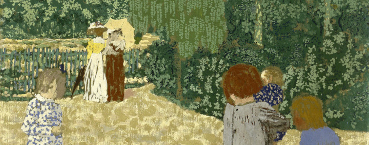 Jardins publics : la promenade (1894), Edouard Vuillard
