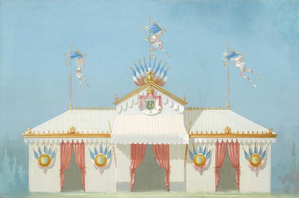 Maison Belloir et Vazelle-Projet de chapiteau pour une fête impériale