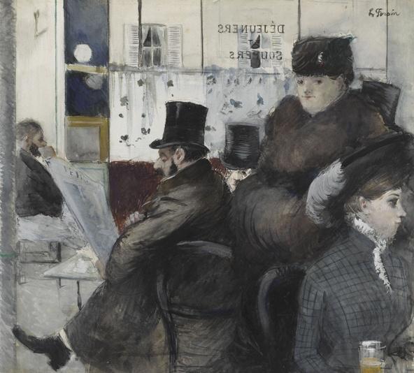 Jean-Louis Forain-Au café de la Nouvelle Athènes