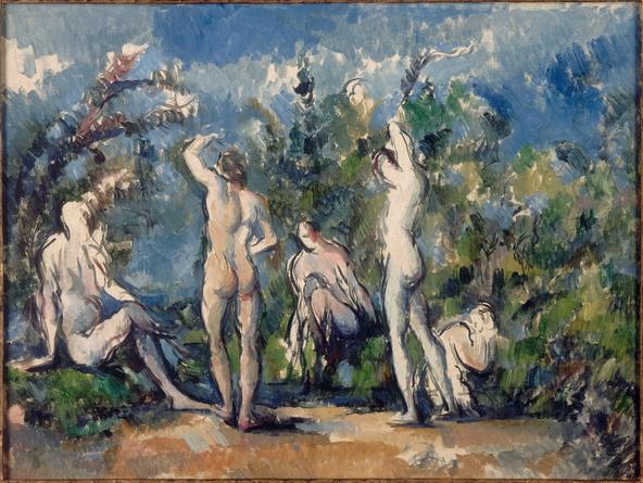 Paul Cézanne-Cinq baigneurs
