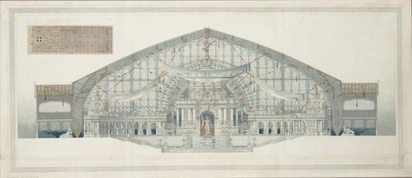 Edouard Loviot-Une salle des fêtes dans la galerie des Machines, exposition universelle de 1900