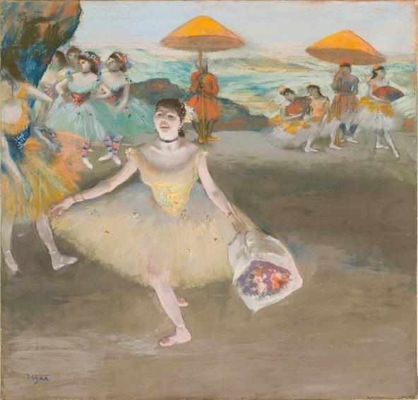 Degas, Edgar-Danseuse au bouquet, saluant sur la scène