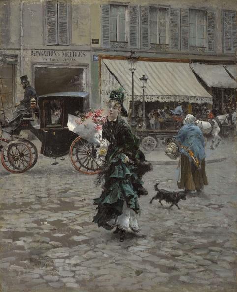 Giovanni Boldini-Traversant la rue