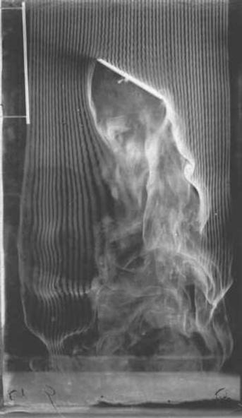 Etienne-Jules Marey-Plan incliné, angle de 60 degrés, quatrième et dernière version de la machine à fumée, équipée de 57 canaux