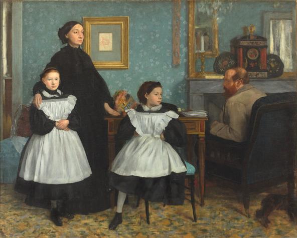 Edgar Degas-La famille Bellelli