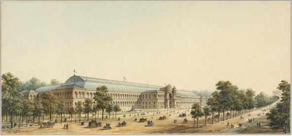 Max Berthelin-Le Palais de l'Industrie, vue perspective