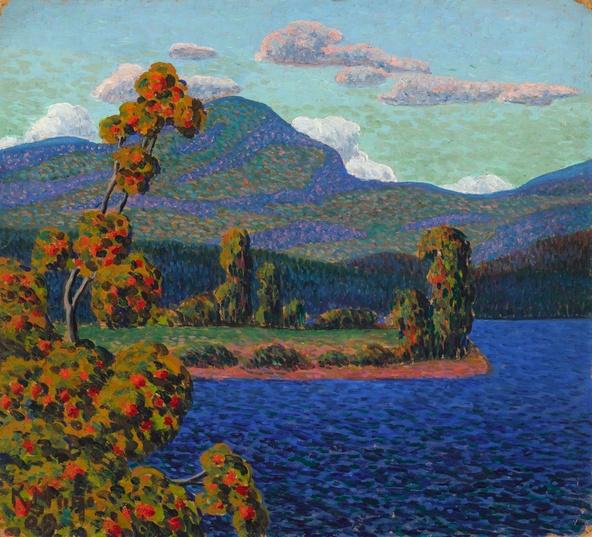 Konrad Mägi-Paysage de Norvège au pin