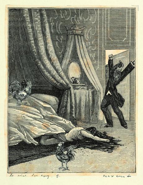 Max Ernst-Collage tiré de Une semaine de bonté. Le rire du coq 5