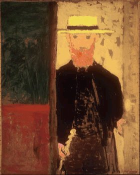 Edouard Vuillard-Autoportrait à la canne et au canotier