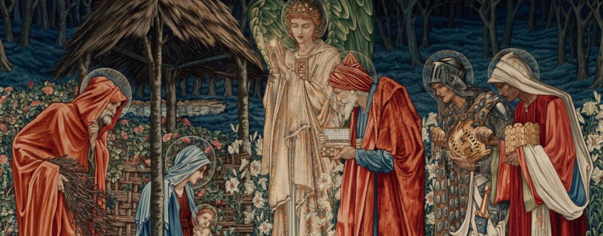L'adoration des mages, Edward Burne-Jones, Burne-Jones, Edward Morris, William Dearle, John Henry Morris & Co