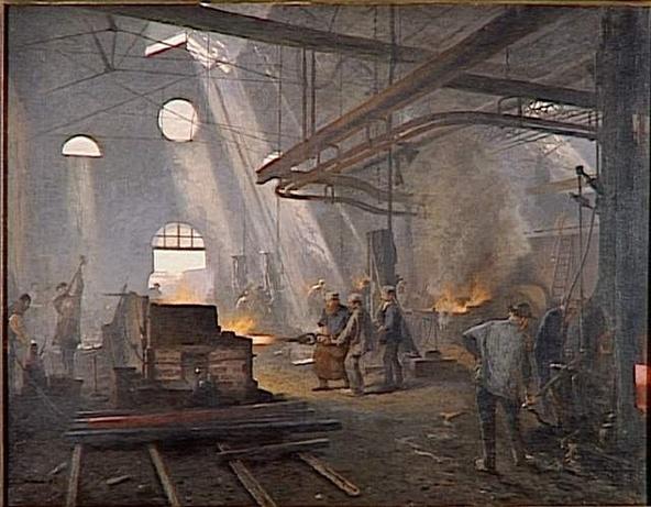 Fernand Cormon-Une forge