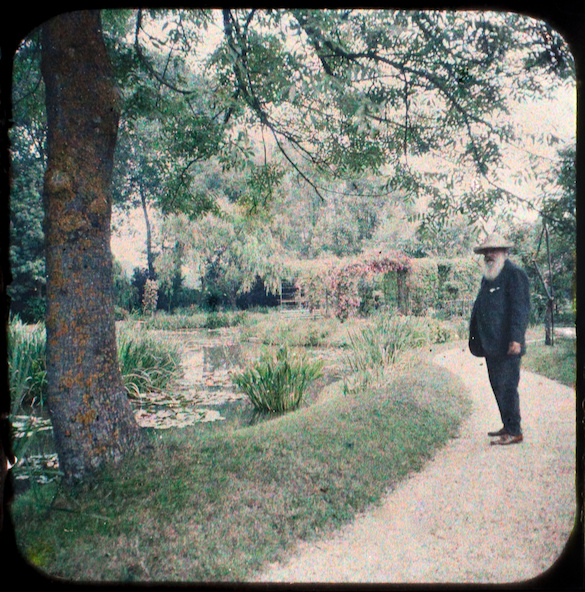 Etienne Clémentel-Claude Monet devant le bassin aux nymphéas, à Giverny