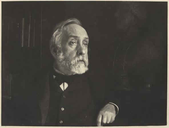 Edgar Degas-Autoportrait dans sa bibliothèque