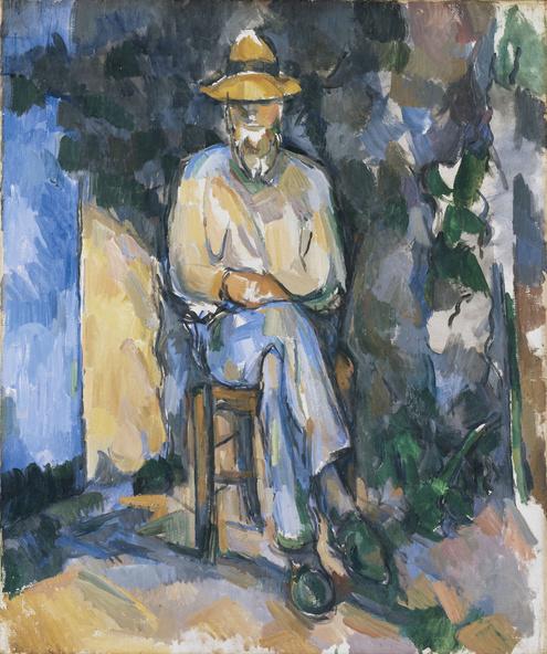 Paul Cézanne-Le Jardinier Vallier