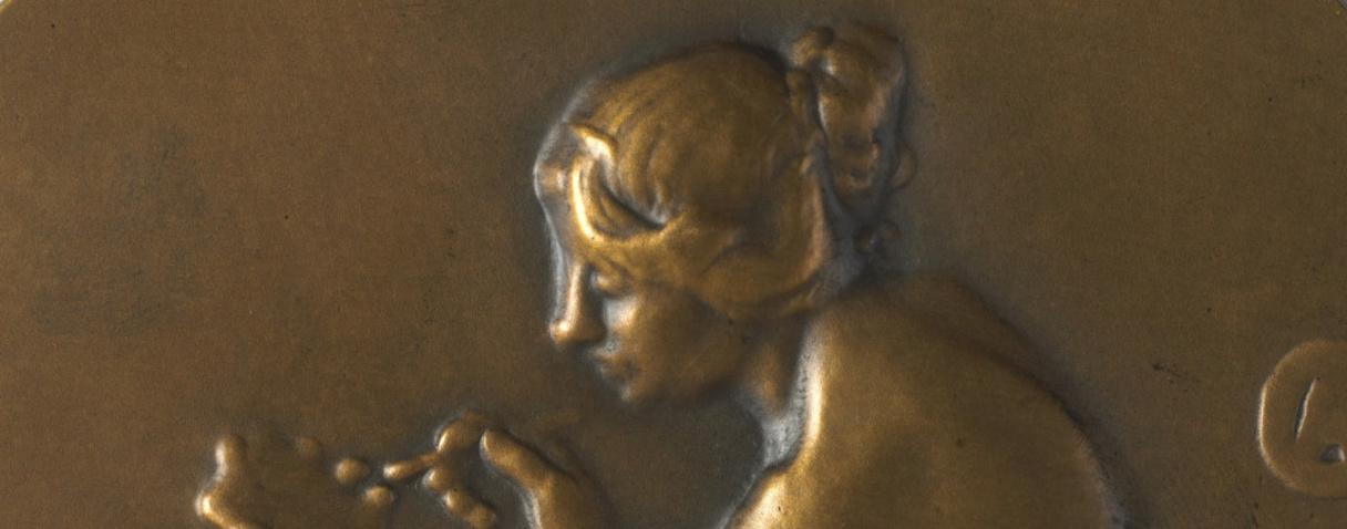 Société des Amis de la médaille française. Revers : Les amateurs de médailles (détail) (en 1901), Charpentier, Alexandre|Amis de la médaille française