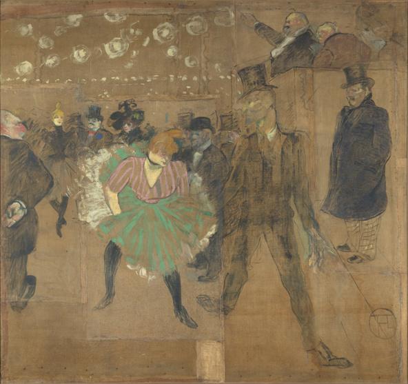 Henri de Toulouse-Lautrec-Panneau pour la baraque de la Goulue, à la Foire du Trône à Paris