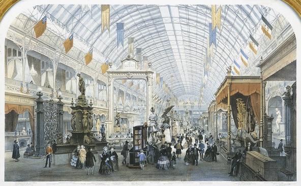 Provost-Exposition universelle de 1855, vue de la grande nef du Palais de l'Industrie