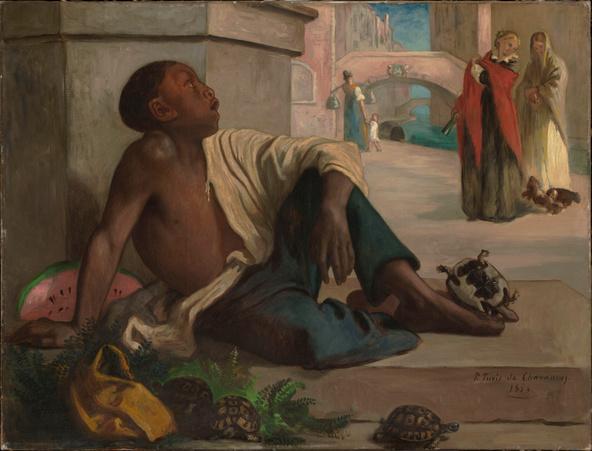 Pierre Puvis de Chavannes-Le marchand de tortues