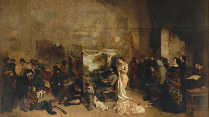 L'Atelier du peintre|L'Atelier du peintre, allégorie réelle déterminant une phase de sept années de ma vie artistique, Courbet, Gustave