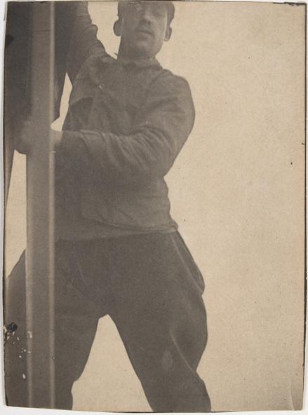 Henri Rivière-Ouvrier travaillant sur la Tour Eiffel
