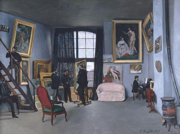 Frédéric Bazille, Edouard Manet-L'atelier de Bazille
