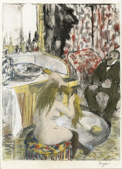 Edgar Degas-Femme nue se peignant