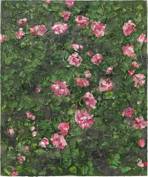 Julian Schnabel-Peinture de rose (Près de la tombe de Van Gogh) XVII