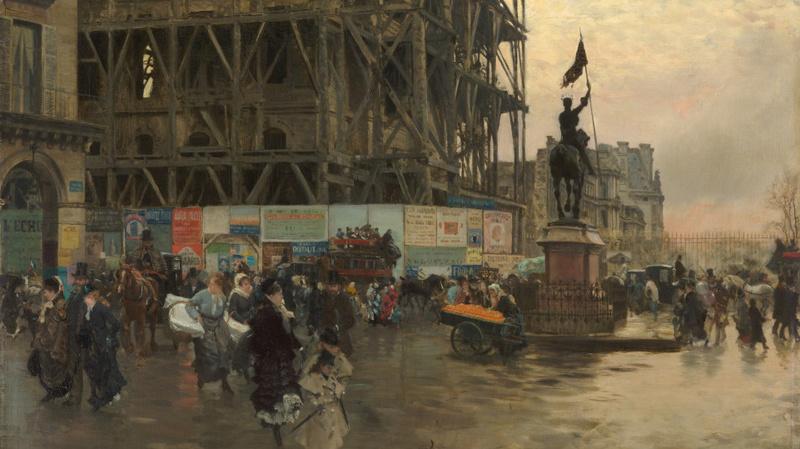 La place des Pyramides (en 1875), De Nittis, Giuseppe