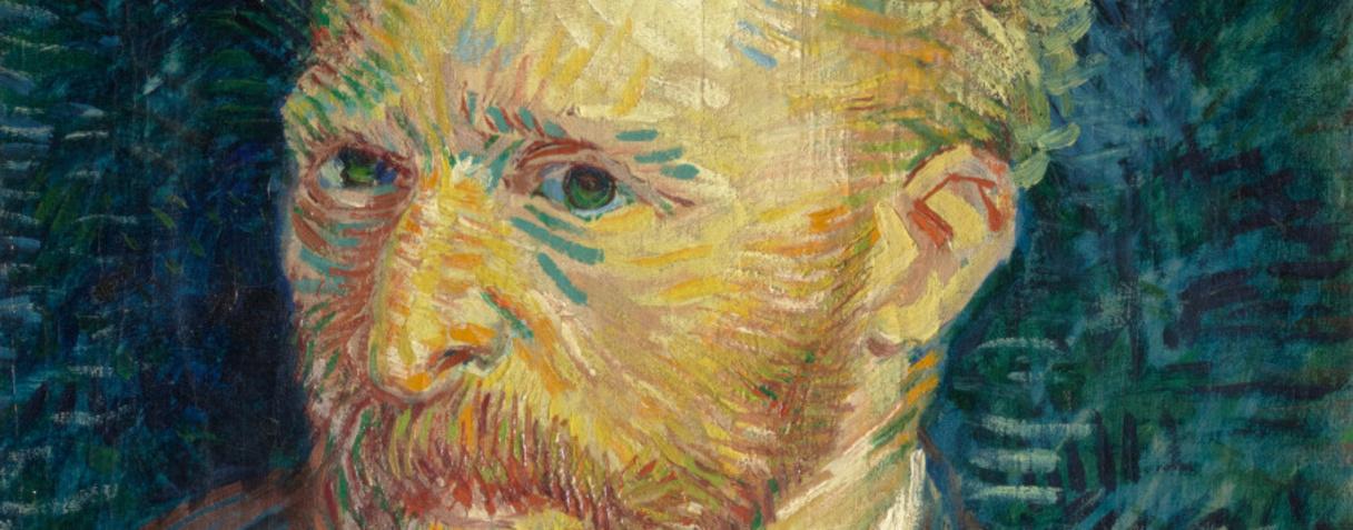 Portrait de l'artiste (détail) (en 1887), Van Gogh, Vincent