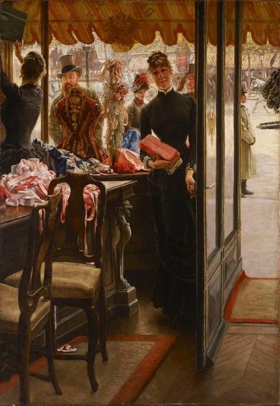 James Tissot-La demoiselle de magasin