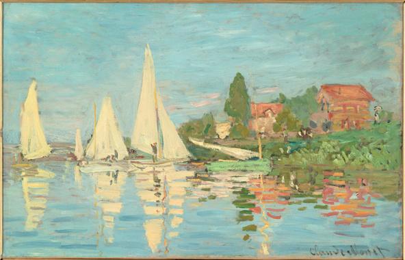Claude Monet-Régates à Argenteuil