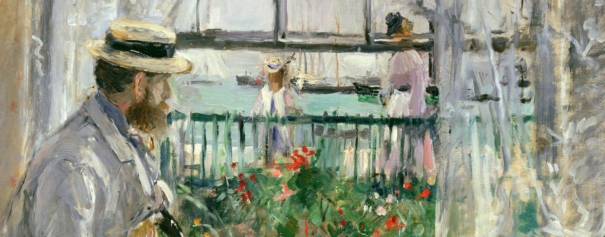 En Angleterre (Eugène Manet à l'île de Wight) (1875), Berthe Morisot
