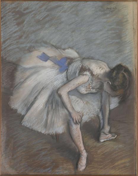 Edgar Degas-Danseuse assise