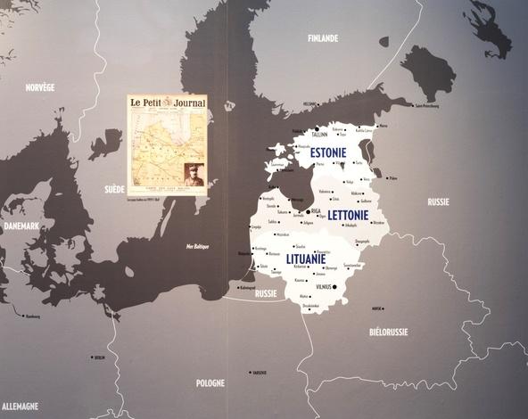 Carte des pays baltes-