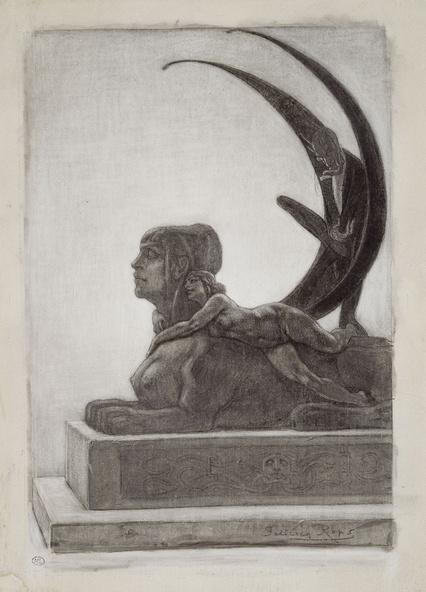 Rops, Félicien-Le Sphinx, frontispice pour les Diaboliques de Barbey d'Aurevilly