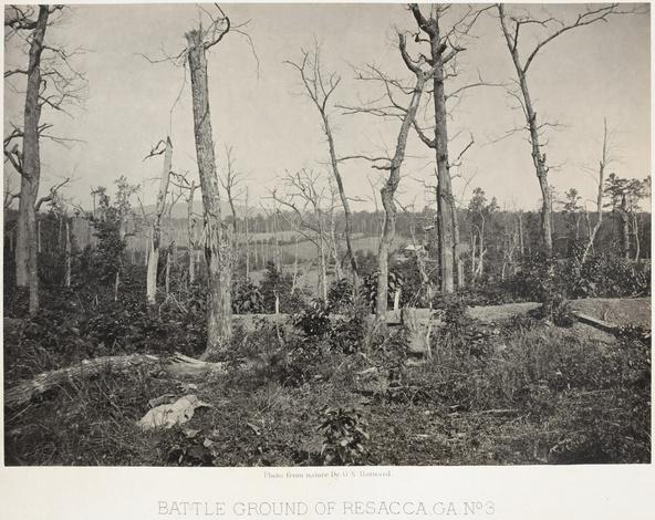 Georges N. Barnard-Battle Ground in Resacca, number 3