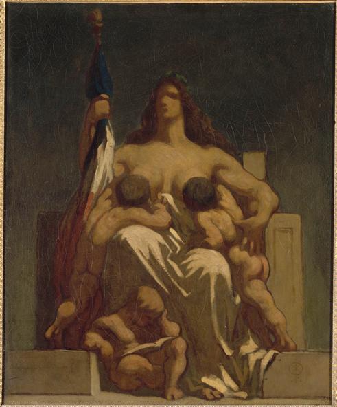 Honoré Daumier-La République