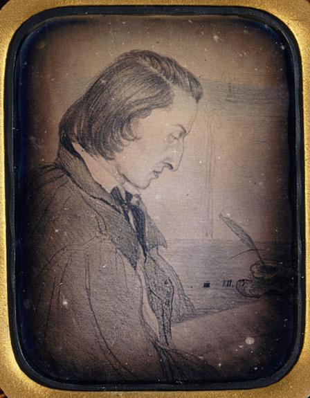 Anonyme-Portrait de Chopin, dessin attribué à George Sand
