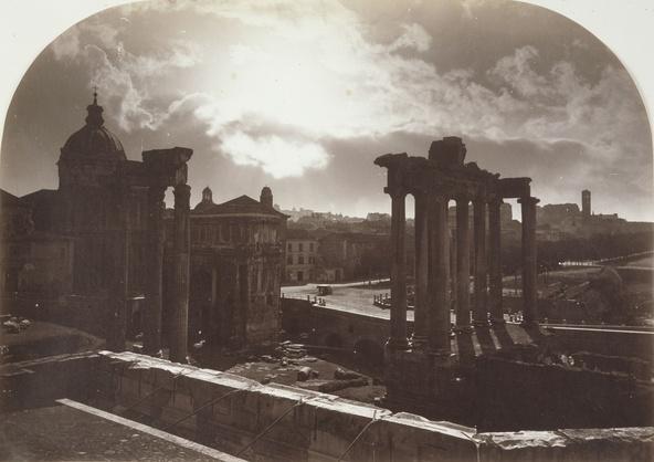 Gioacchino Altobelli-Rome, clair de lune sur le Forum