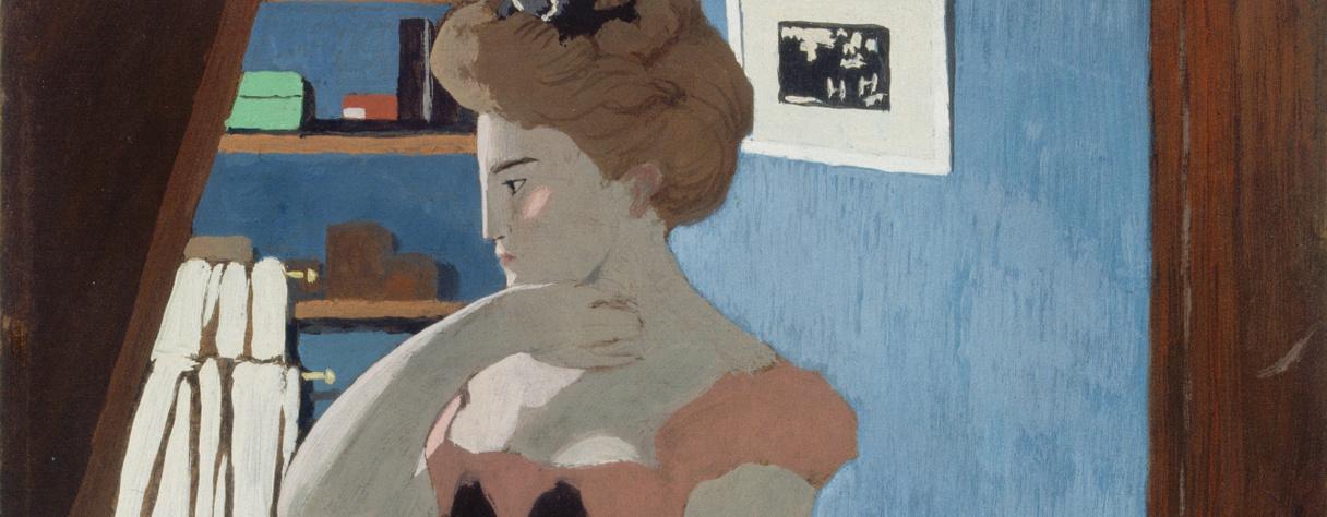 Misia à sa coiffeuse (en 1898), Vallotton, Félix