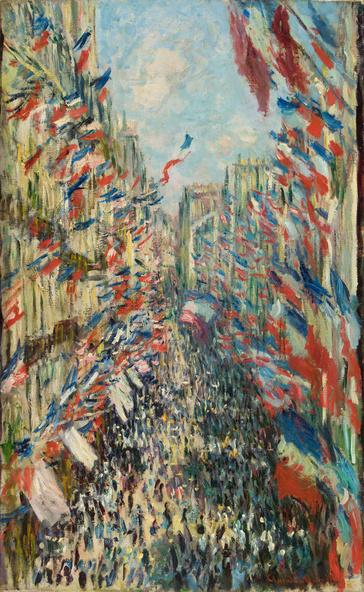 Claude Monet-La Rue Montorgueil à Paris. Fête du 30 juin 1878