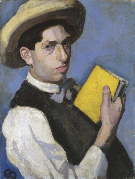 Róbert Berény-Autoportrait au chapeau de paille