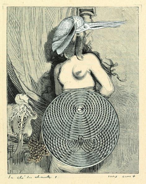 Max Ernst-Collage tiré de Une semaine de bonté. La clé des chants 1