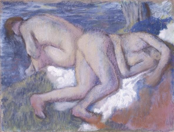 Edgar Degas-Deux femmes au bain