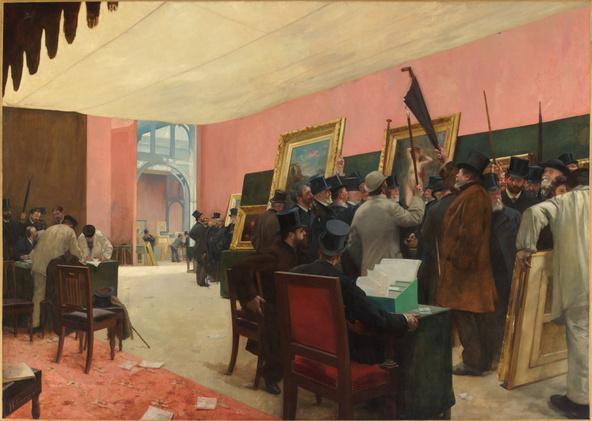 Henri Gervex-Une scéance du jury de peinture